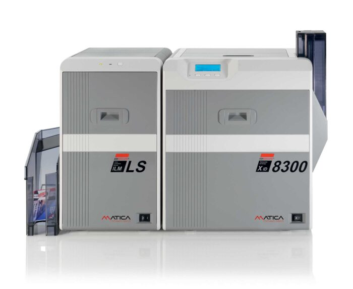 Matica XID8300 Retransfer ID Card Printer with single-sided Laminator