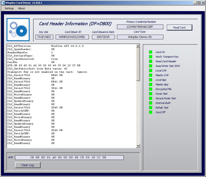 Smart card development kit SDK