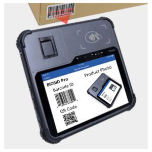 BIOSID PRO Biometric Enrollment and Verification Tablet device w/ barcode scanner