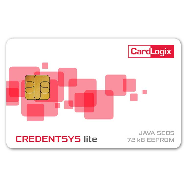CardLogix Credentsys™ lite Java Card 72K — (100-Pack)