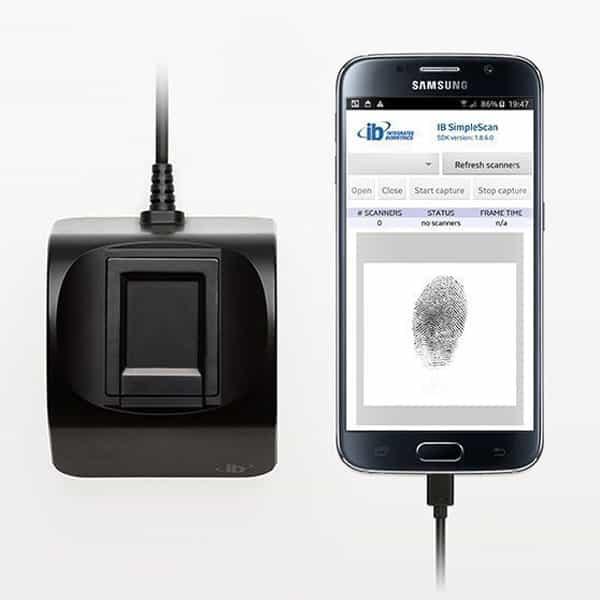 Integrated Biometrics Columbo fingerprint scanner for Android