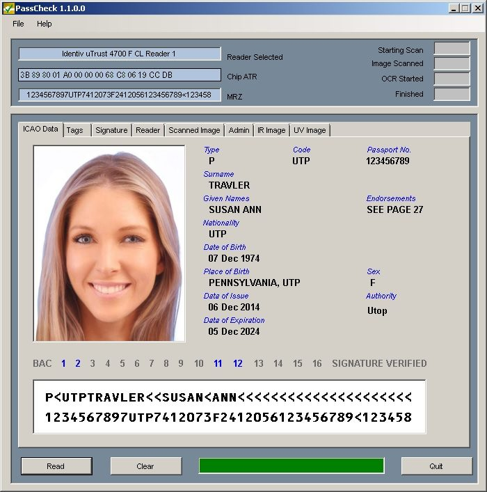 CardLogix PassCheck for Windows Screenshot 1