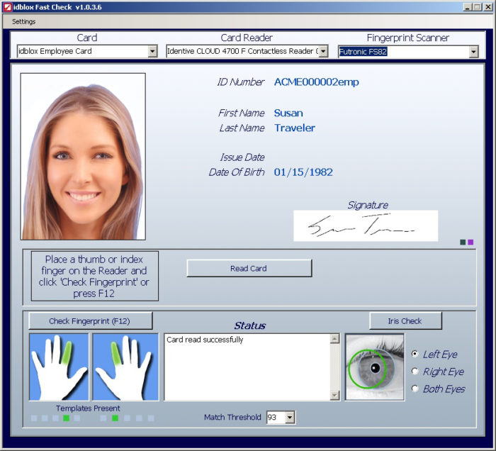 FastCheck for Windows identity verification and biometric matching