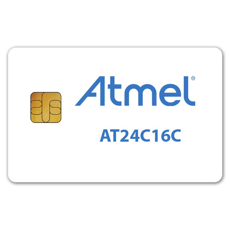 Atmel AT24C16C memory smart card