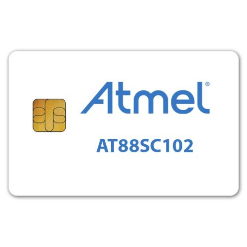 Atmel AT88sc102 secure memory smart card