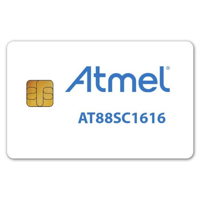 Atmel AT88sc1616 cryptomemory smart card