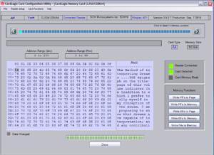 I2C Memory smart card development kit (SDK)