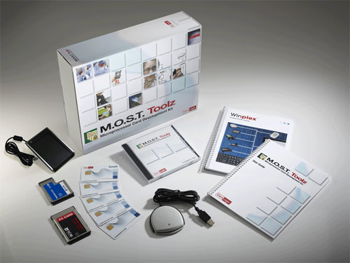 MOST Toolz microprocessor smart card development kit (SDK)