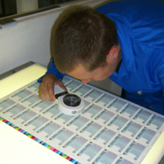Smart card printing inspection