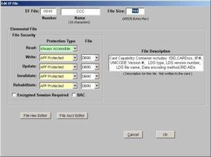 Smart card EF File software SDK
